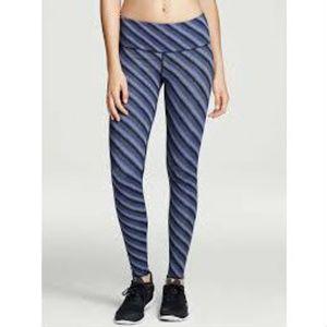 EUC VSX Victoria's Secret Blue Stripe Tights